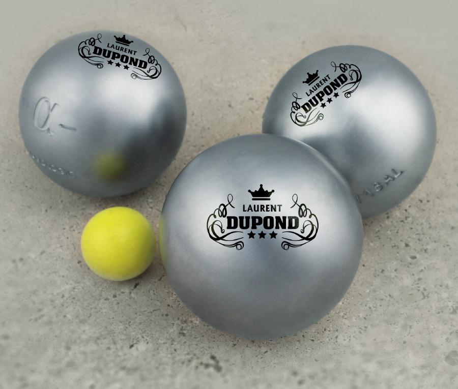 Cadeau personnalis boules de p tanque de comp tition for Poids boule de petanque