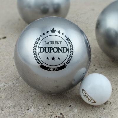Cadeau personnalis boules de comp titions personnalis es for Poids boule de petanque
