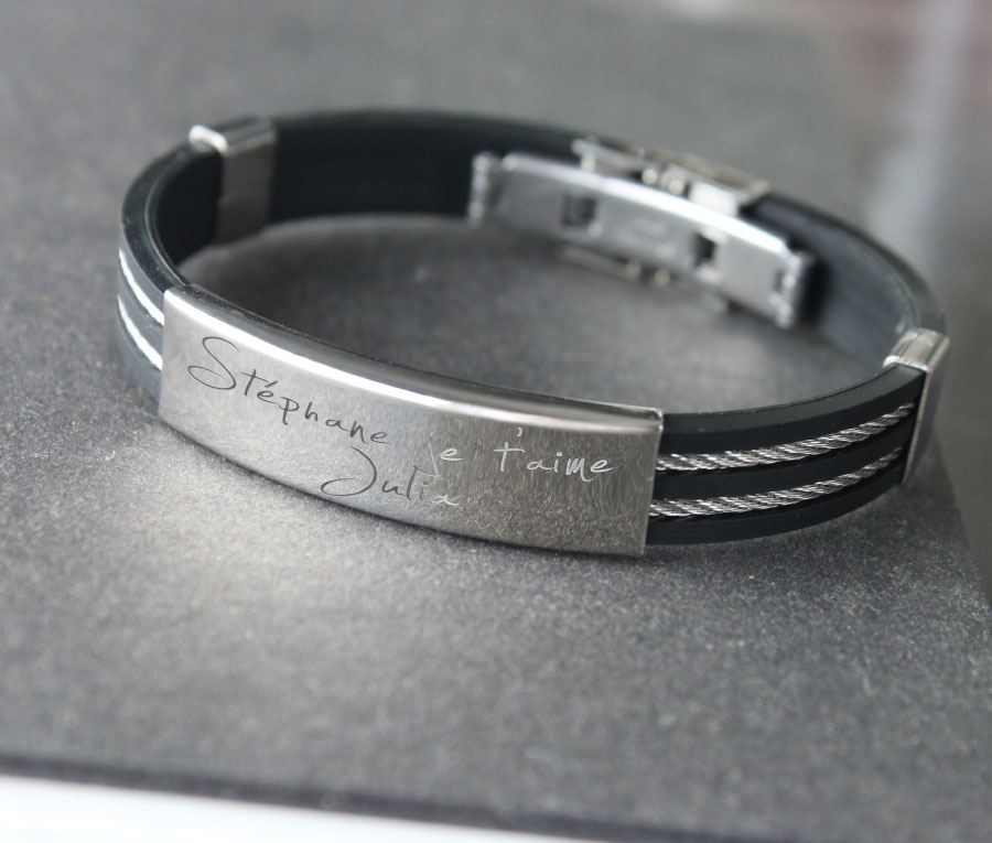 idee gravure bracelet homme