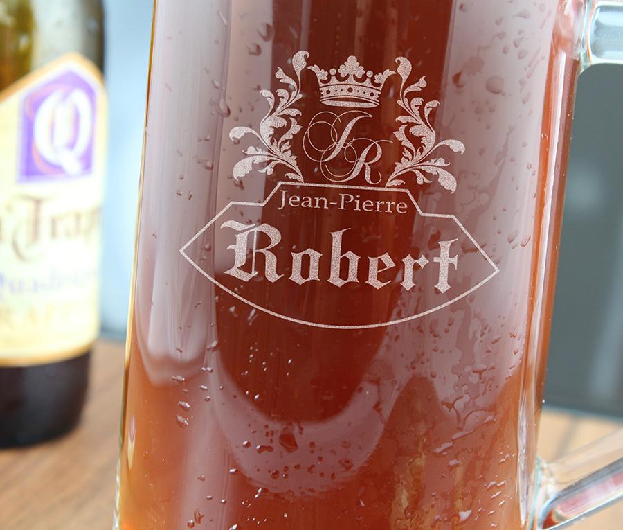 Cadeau personnalis chope de bi re grav e 40cl - Chope de biere 1l ...