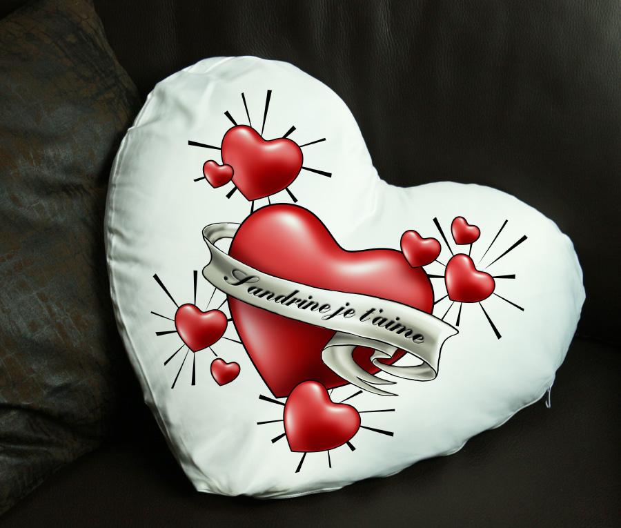 cadeau personnalis coussin coeur avec votre message personnalis. Black Bedroom Furniture Sets. Home Design Ideas