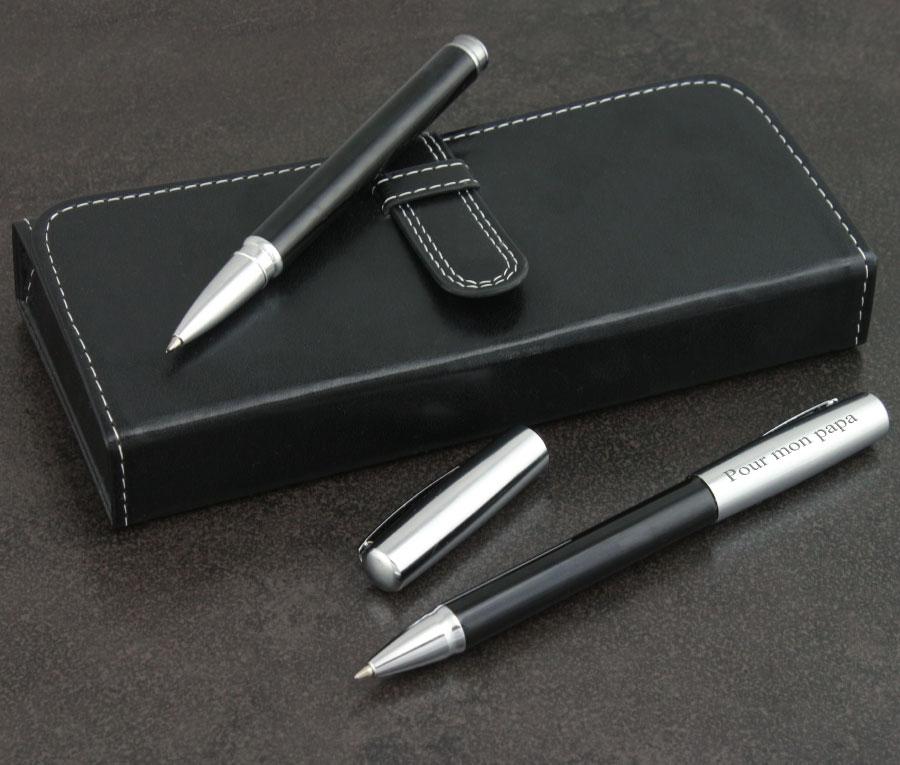 cadeau personnalis parure de stylos pour homme grav e son nom